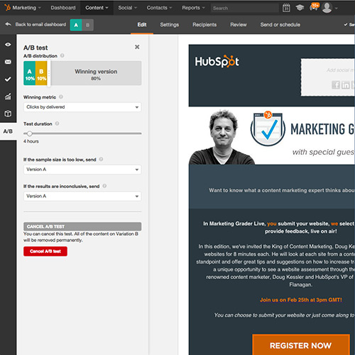 A/B Test Every Element of Your Emails With HubSpot