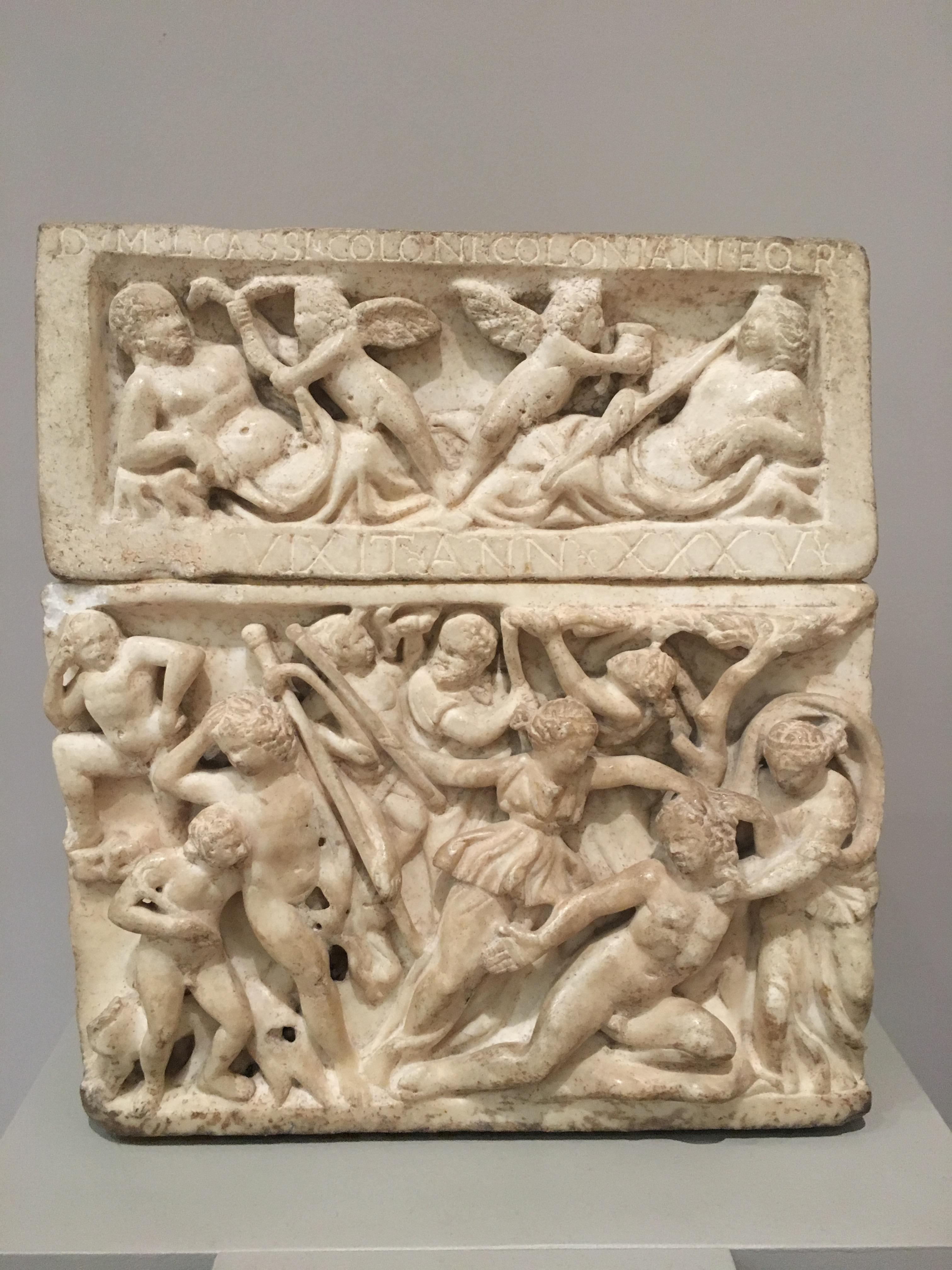 Cinerary urn of L. Cassius Colonus Colonianus