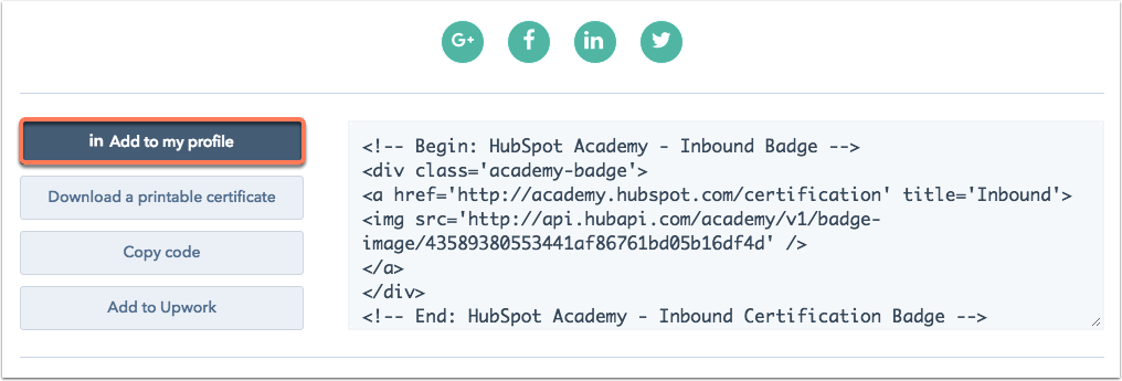 How can I add my HubSpot certifications to my LinkedIn profile?