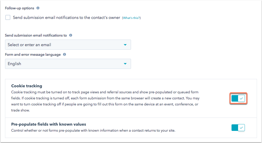 How can I disable cookie tracking on forms so each submission from ...