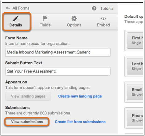 How to view form submissions data