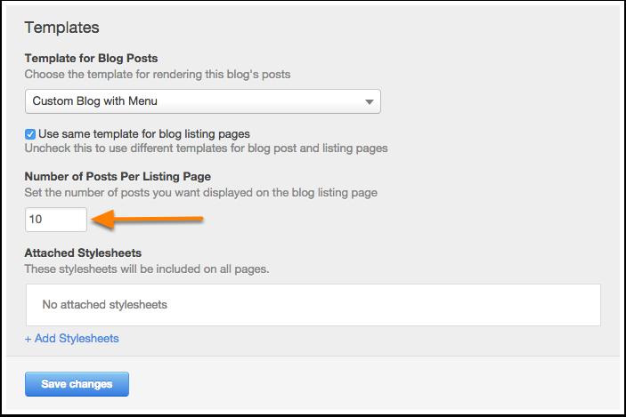 Gewusst wie: So konfigurieren Sie Vorlagenoptionen für Ihren Blog
