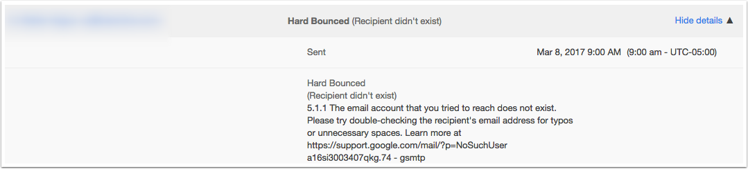 Email bounce types