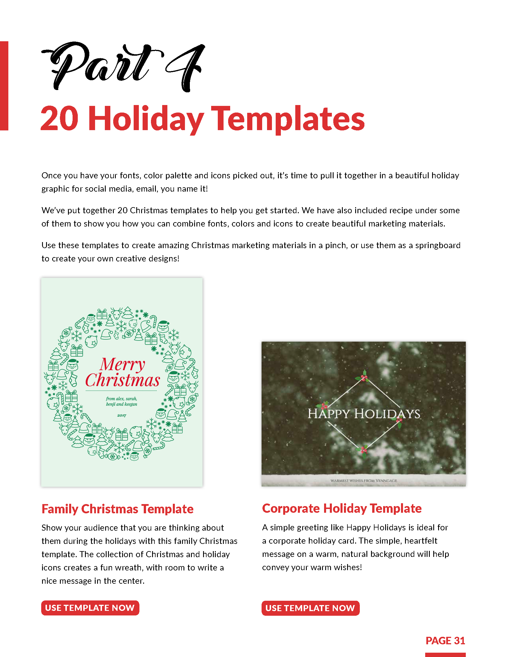 Last Minute Holiday Marketing Kit Preview