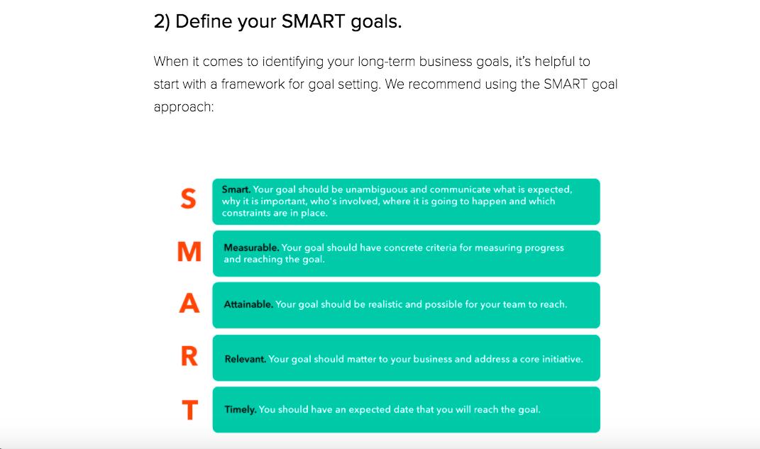 Define Your SMART Goals