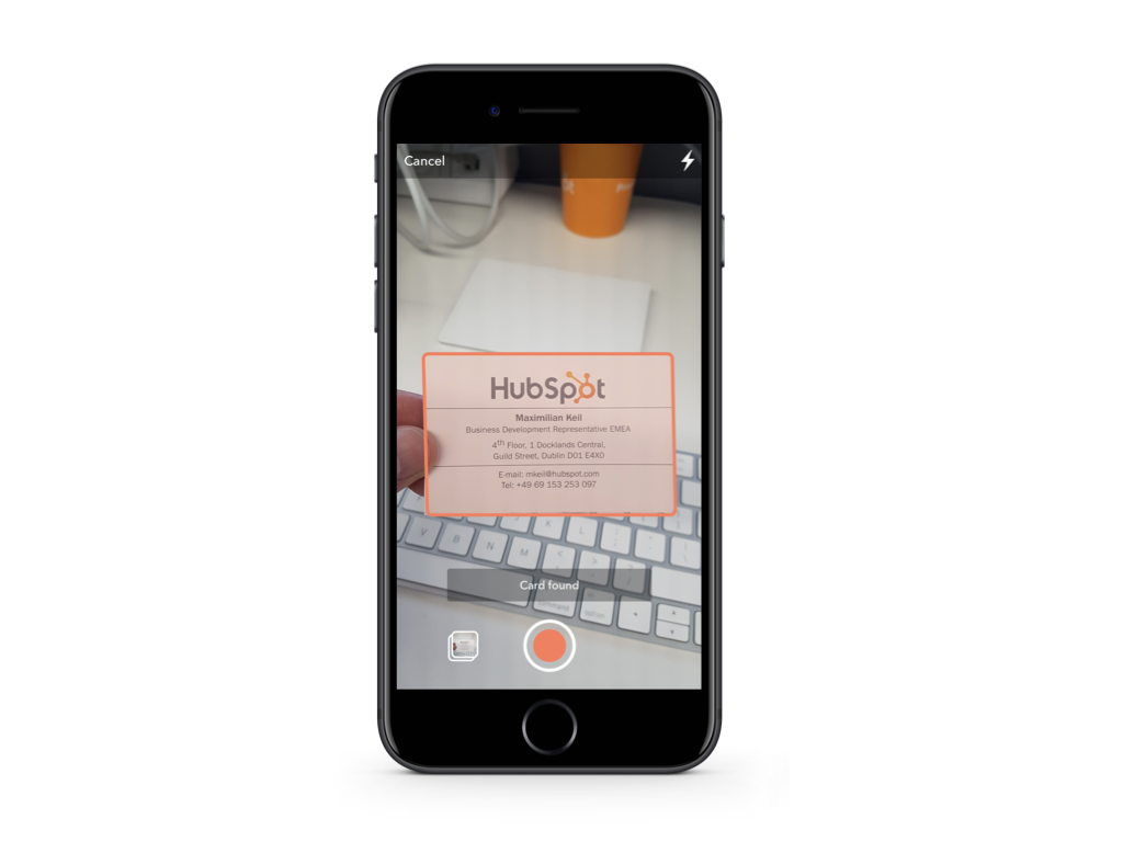 Hubspot Business Card Scanner App