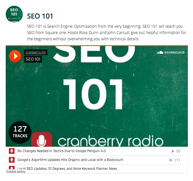 Cranberry Radio SEO 101