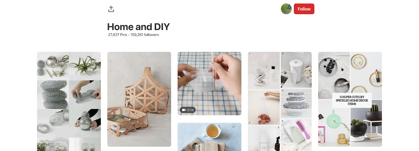 Pinterest Home and DIY board