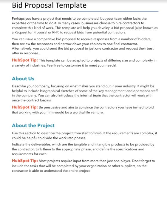 13 Free Proposals/Estimates/Quotes Templates & Examples