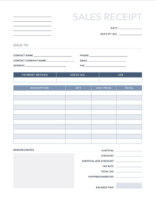 Free Invoices/Receipts PDF & Excel Template | HubSpot