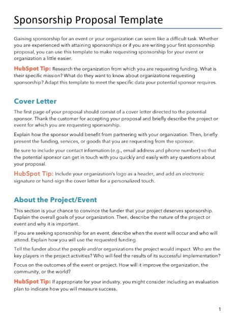 free proposals estimates quotes pdf word template hubspot. Black Bedroom Furniture Sets. Home Design Ideas