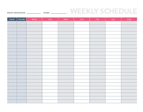 Free Agendasschedules Pdf Excel Template Hubspot