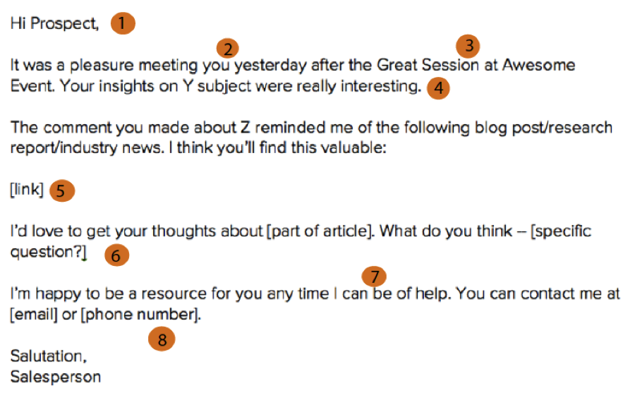 The Anatomy of a Perfect Networking Follow-Up Email [Template ...