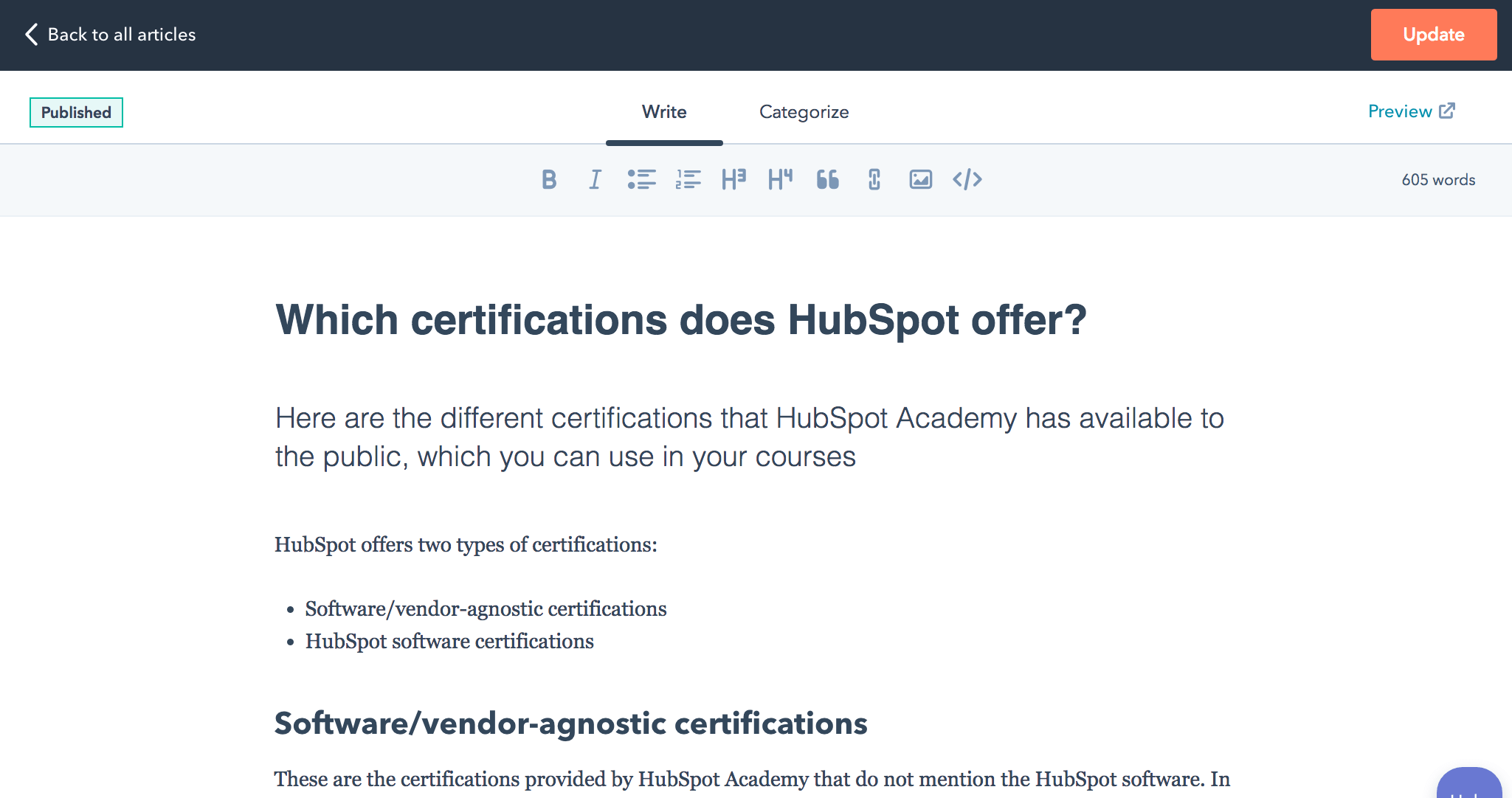 Knowledge Base Software Hubspot