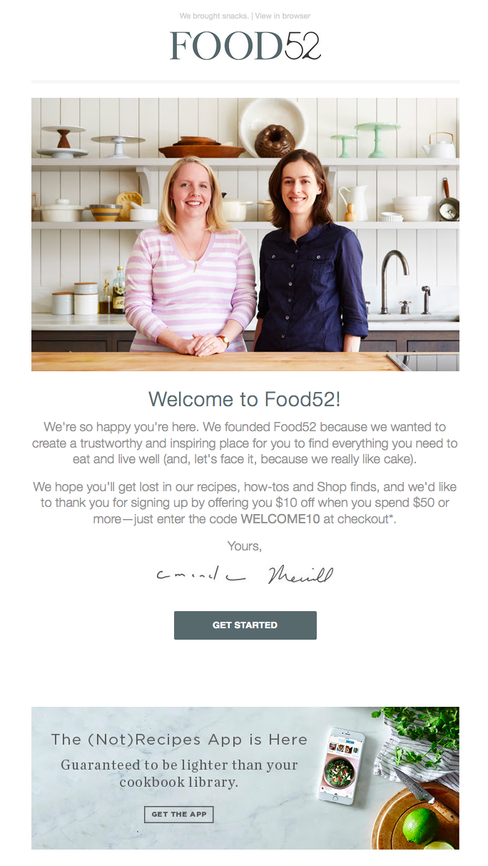 food-52-welcome-email.png