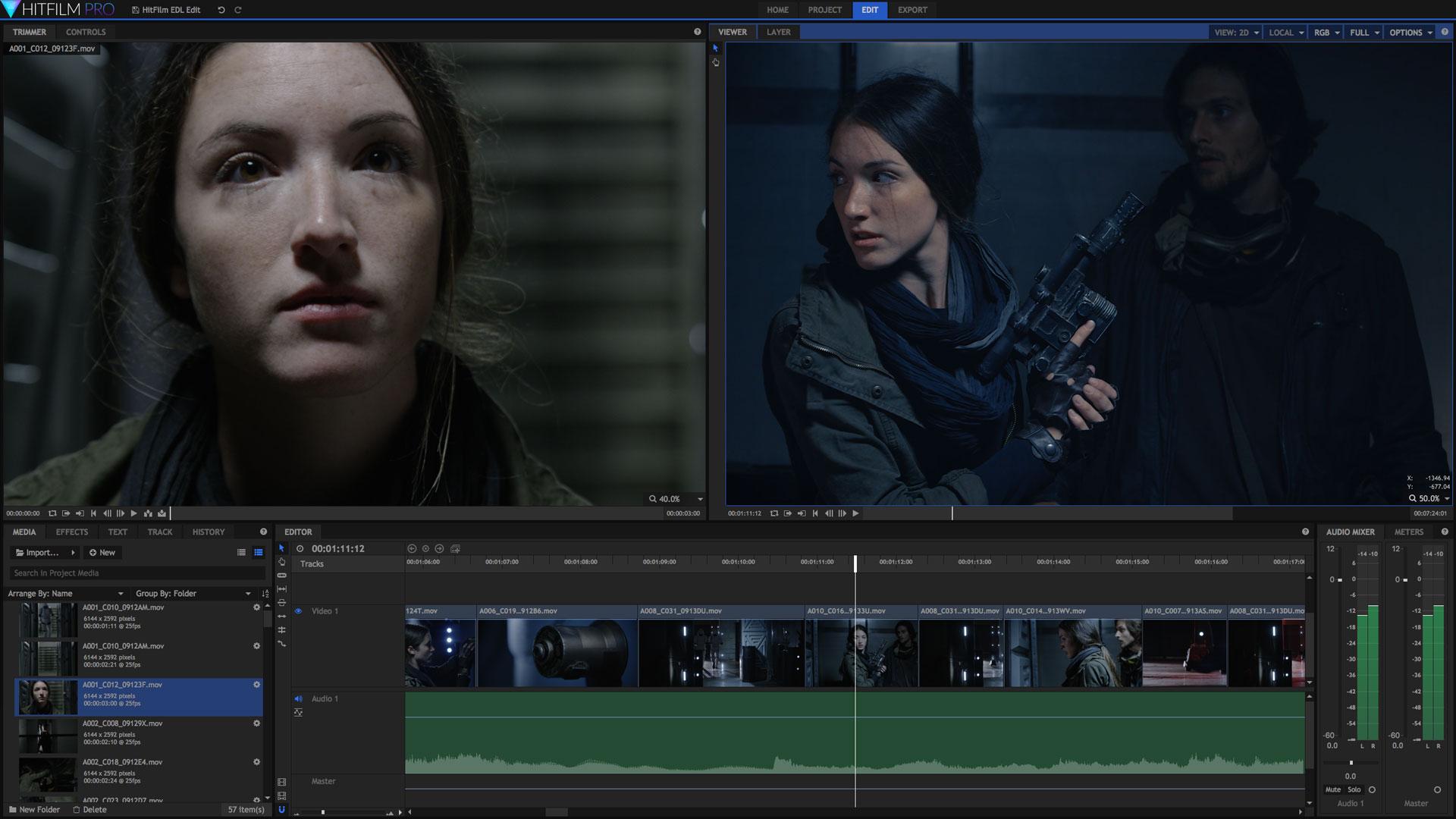 hitfilm video editing app