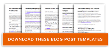 The Ultimate Collection Of Free Content Marketing Templates - Blog post schedule template