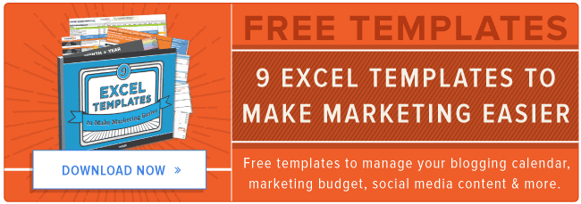 Free Microsoft Excel Templates To Make Marketing Easier - Excel templates