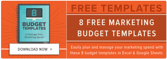 8 essential budget templates for marketers free download