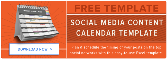 The Social Media Content Calendar Template Every Marketer Needs - Social media content schedule template