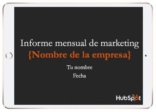 Plantillas para informe mensual de marketing
