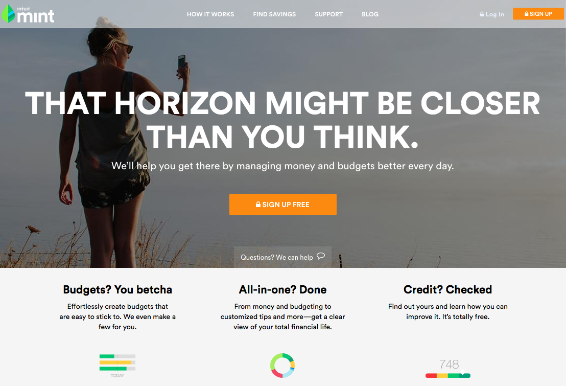 Mint Homepage Design Png