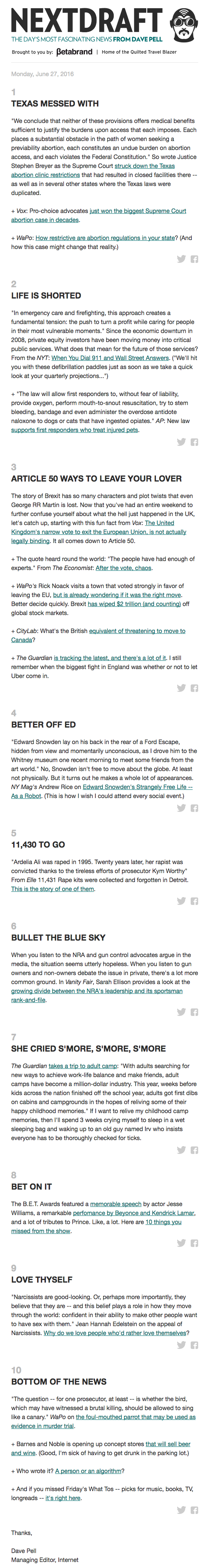Email Newsletter Examples We Love Getting In Our Inboxes