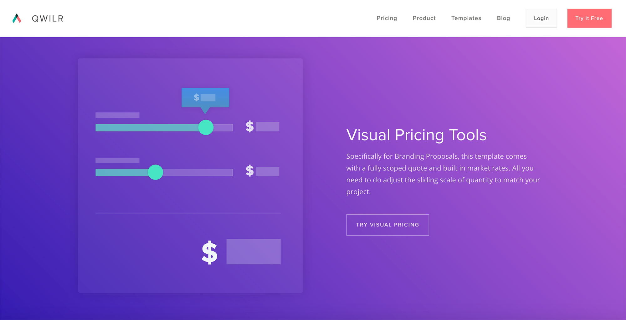 Qwilr quote and proposal software homepage 10