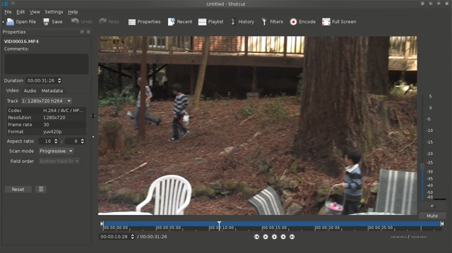 shotcut video editing app