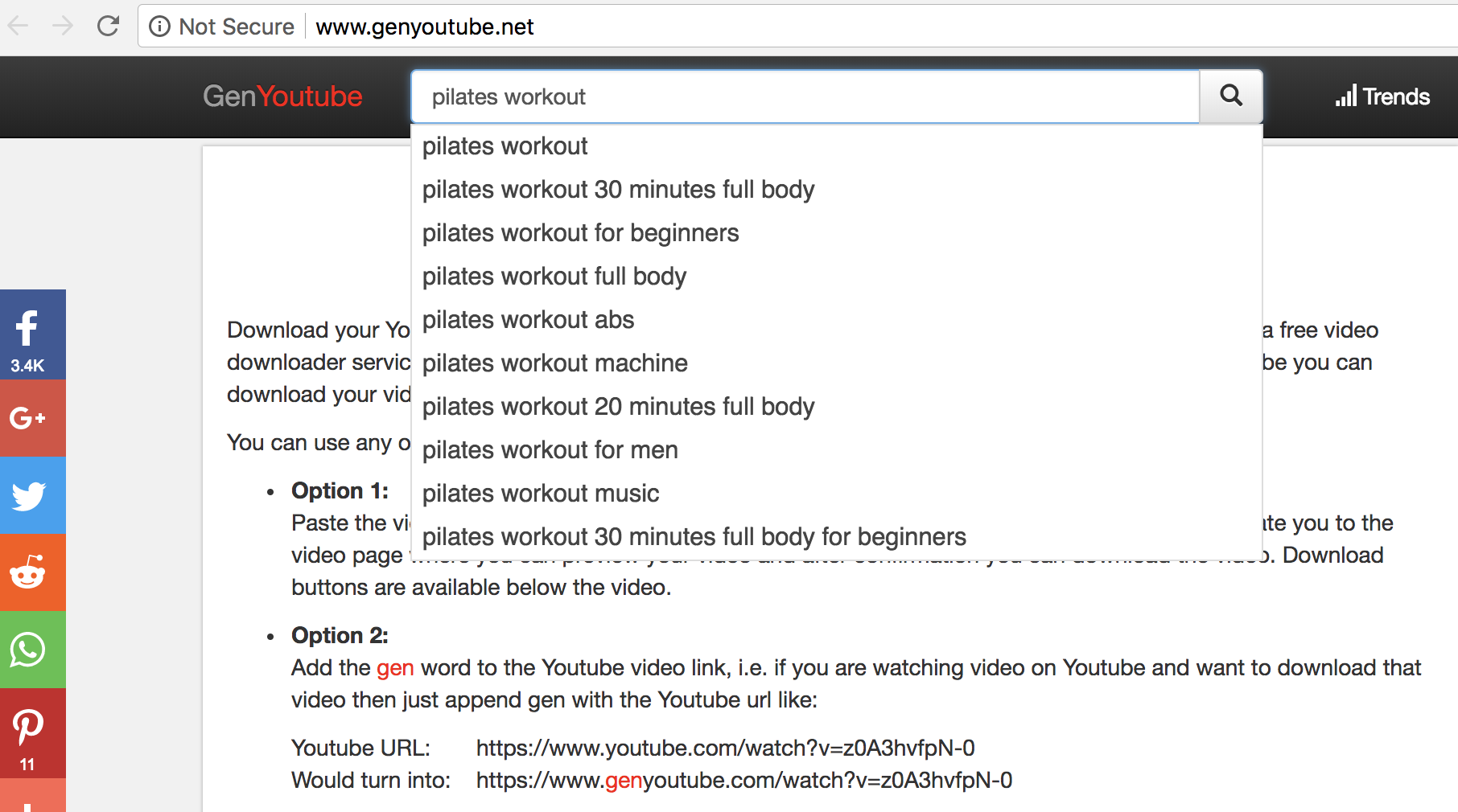 Search for GenYouTube