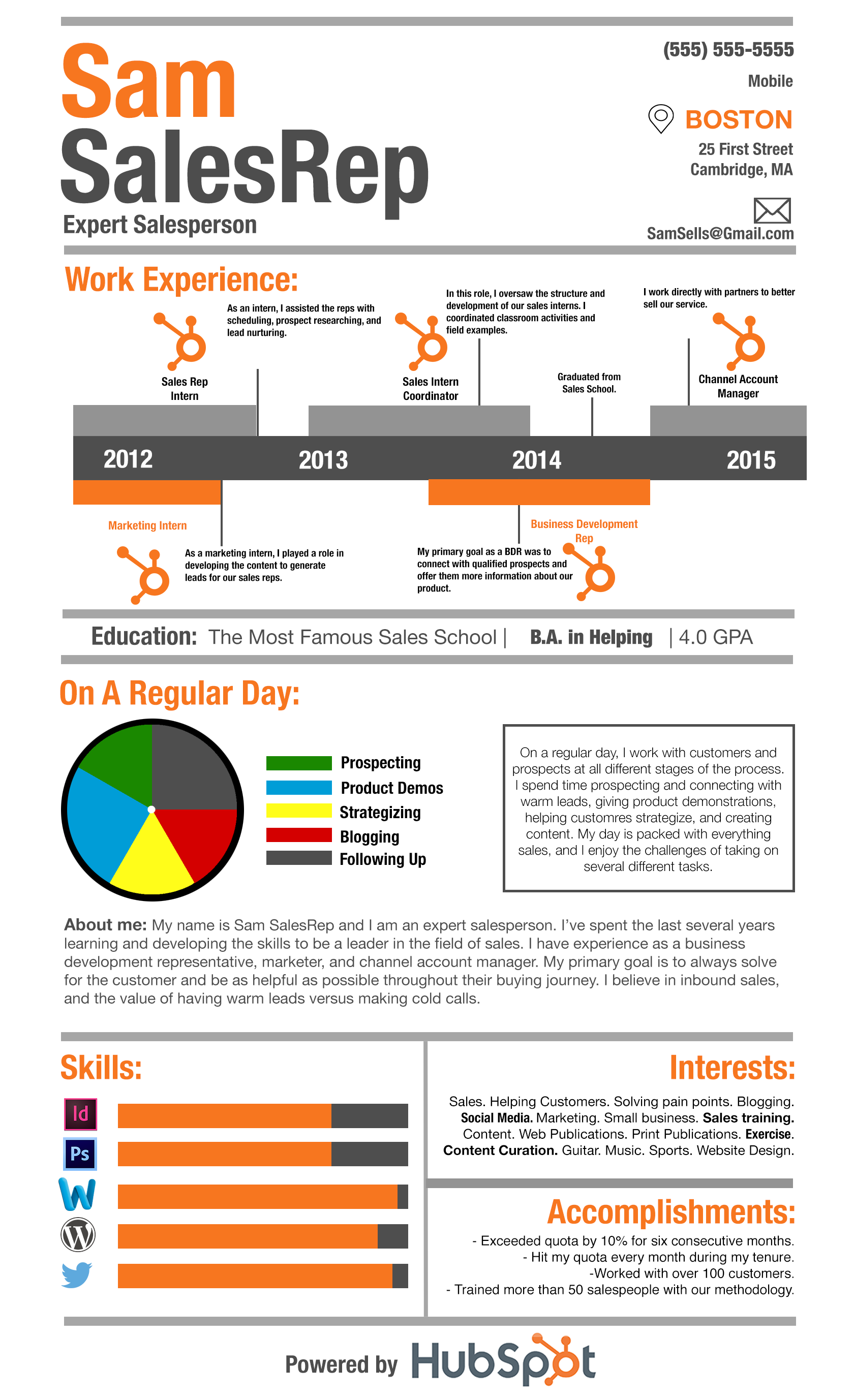 how to create a s resume that grabs recruiters attention click to enlarge