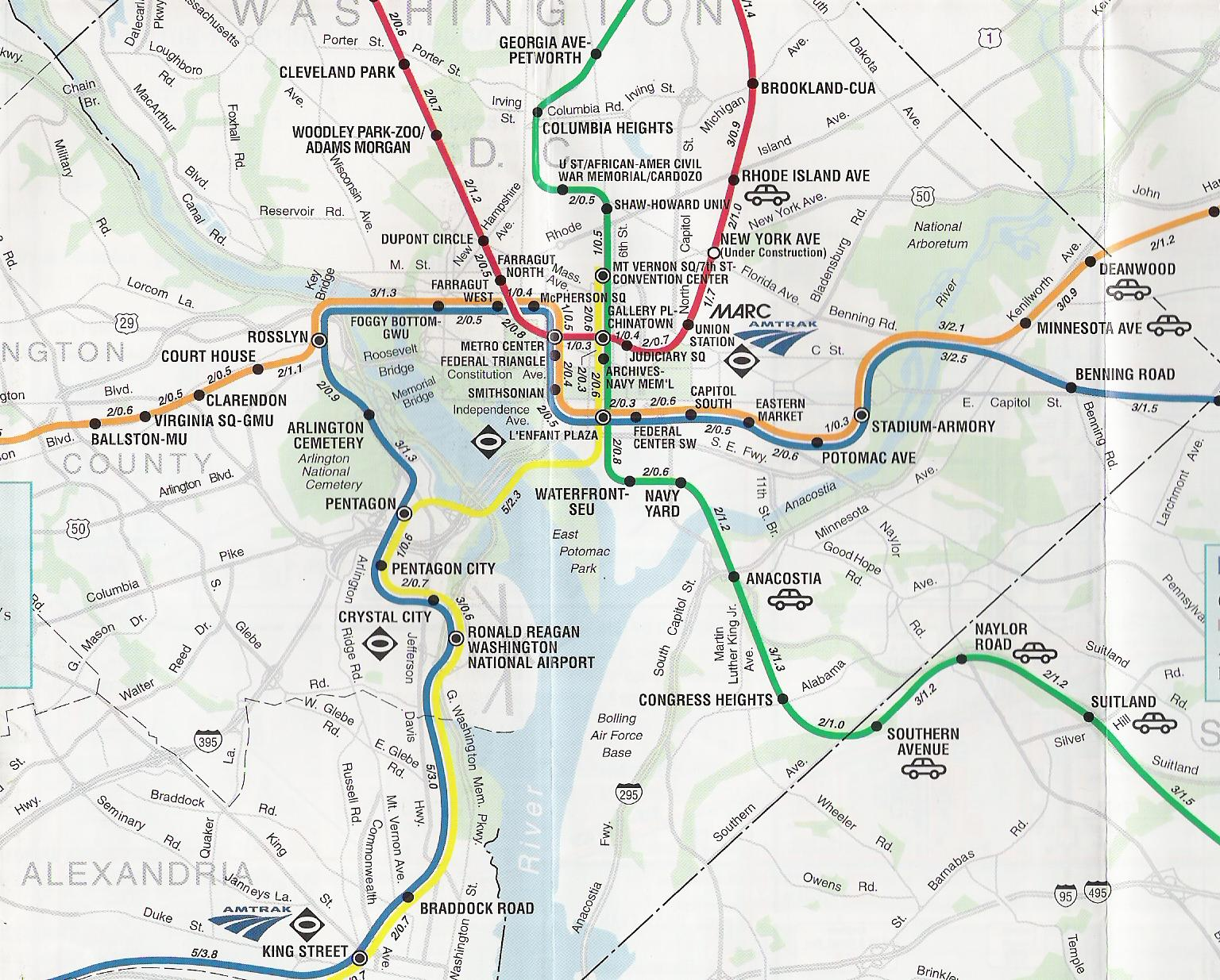 The Best  Worst Subway Map Designs From Around The World - Washington dc map layout
