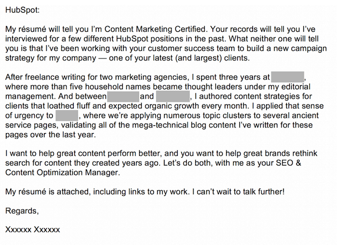 7 cover letter examples that got something right were meant for each other cover letter submitted to hubspot spiritdancerdesigns Image collections