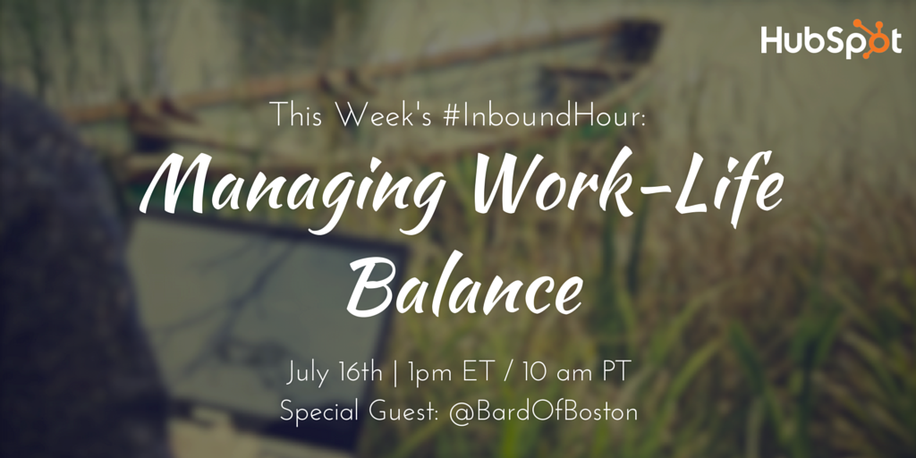 how to manage work life balance while