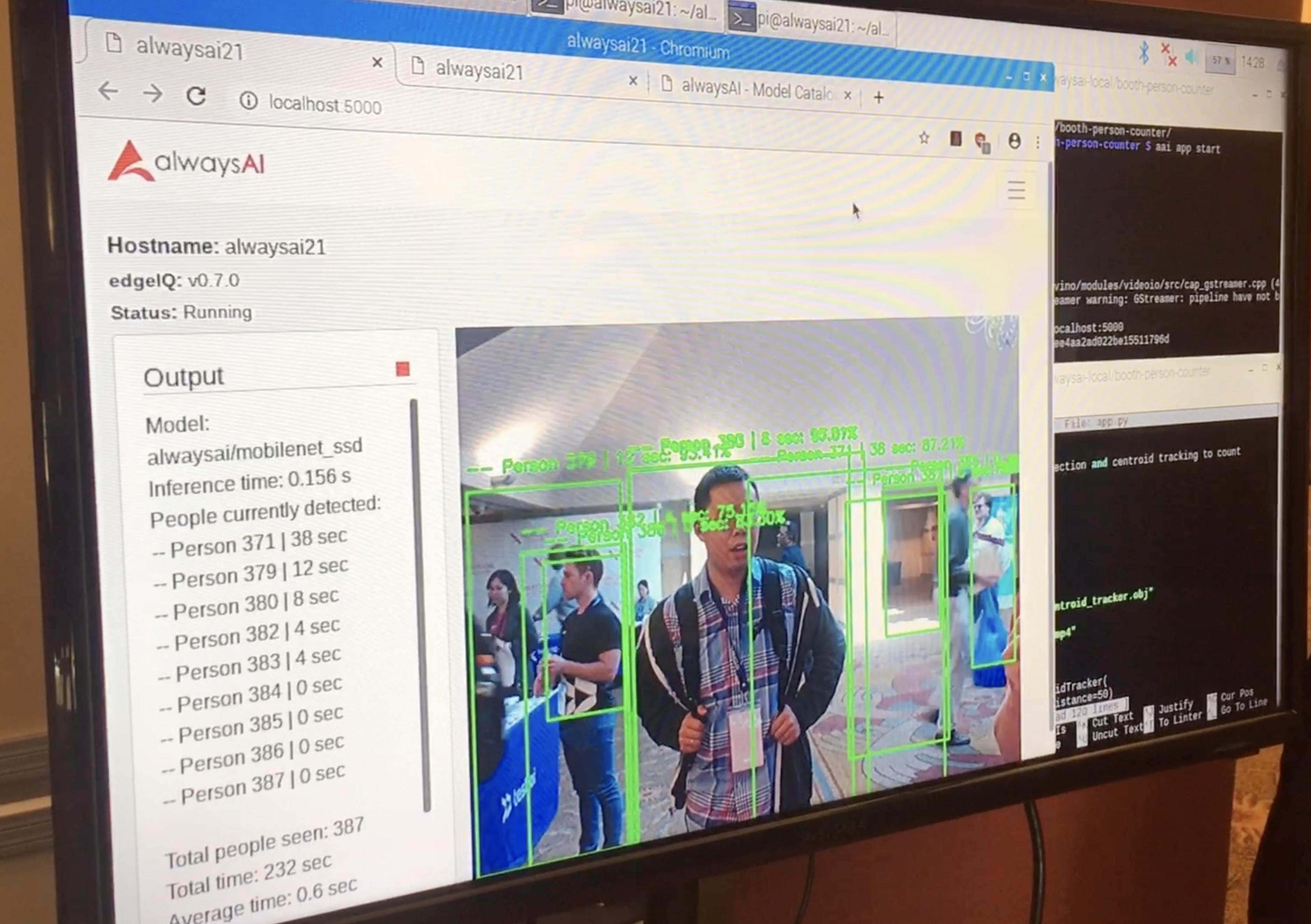 Screenshot computer vision example
