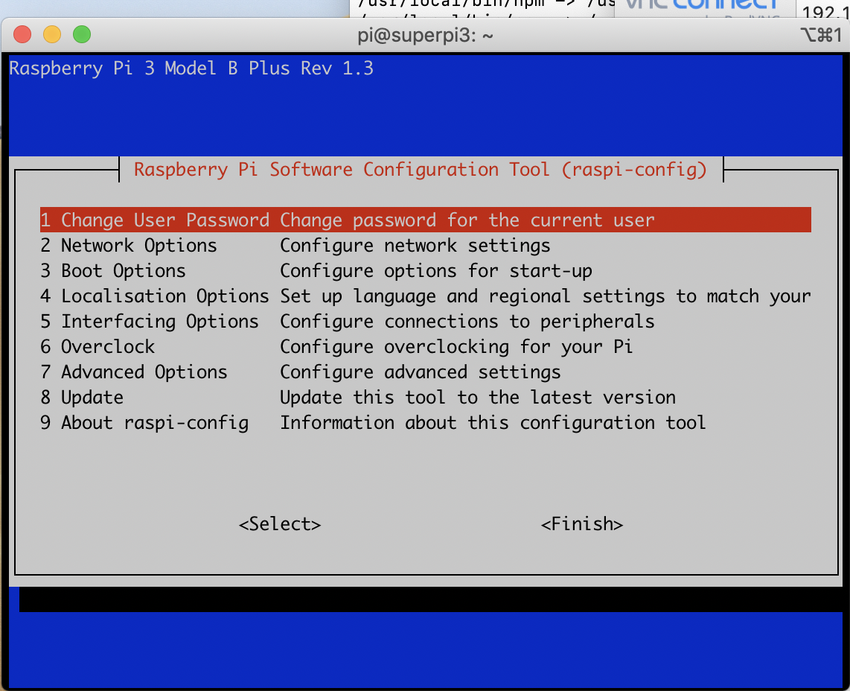 Screenshot of Raspberry Pi. alwaysAI Computer Vision Platform.
