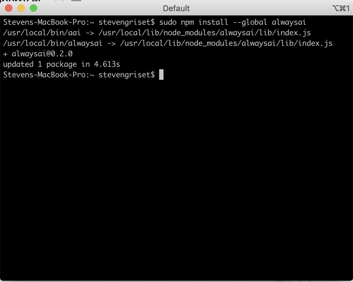Screenshot of configuration procedure. alwaysAI Computer Vision Platform Using Raspberry Pi