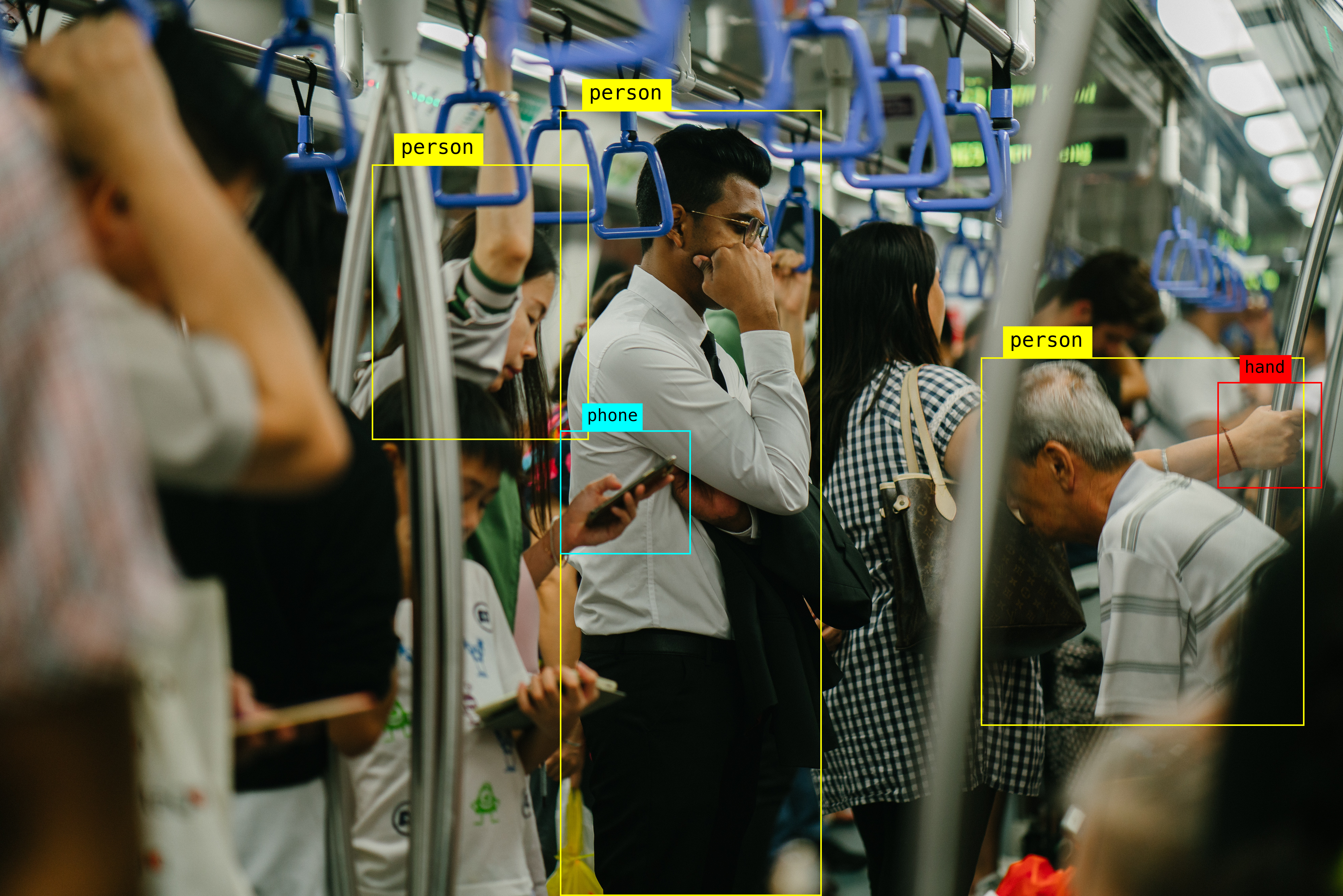 AI object detection in a train using computer vision