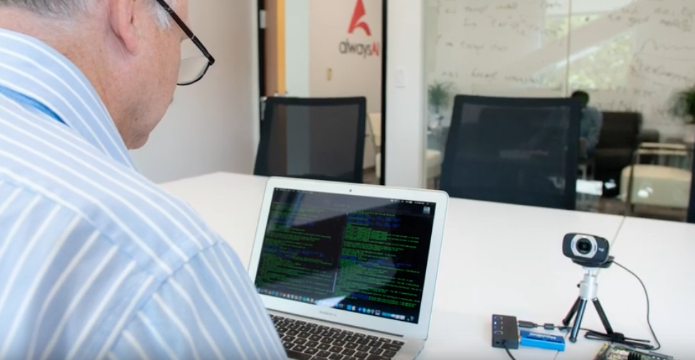 Software developer working on an embedded device for object detection