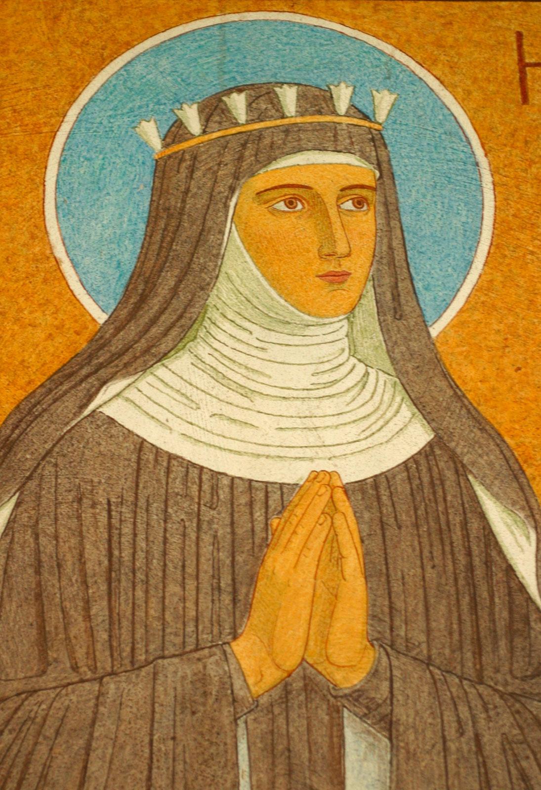 Retrato de Hildegard von Bingen