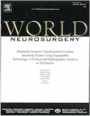 World Neurosurgery June-2016 MIS TLIF article cover