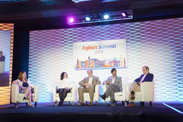 Agiloft Summit 2019 business showcase panel