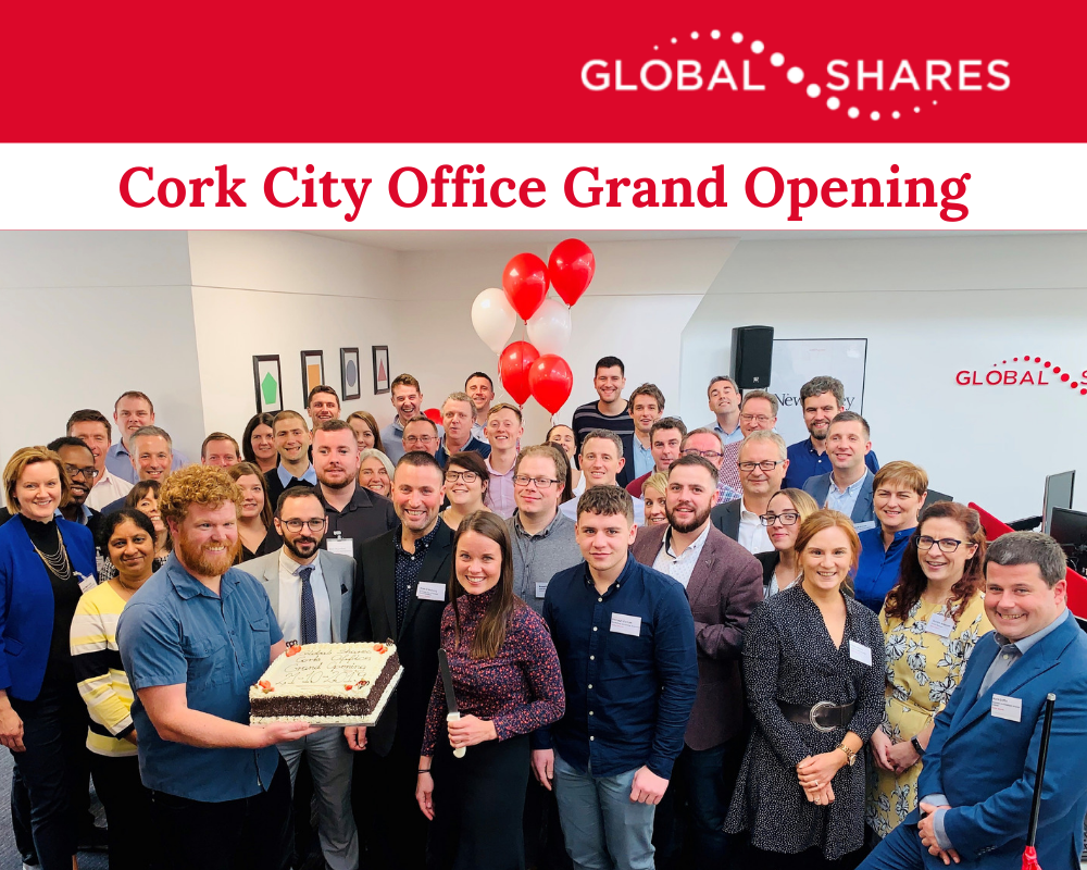 Photo of Cork City employees at the Office Grand Opening