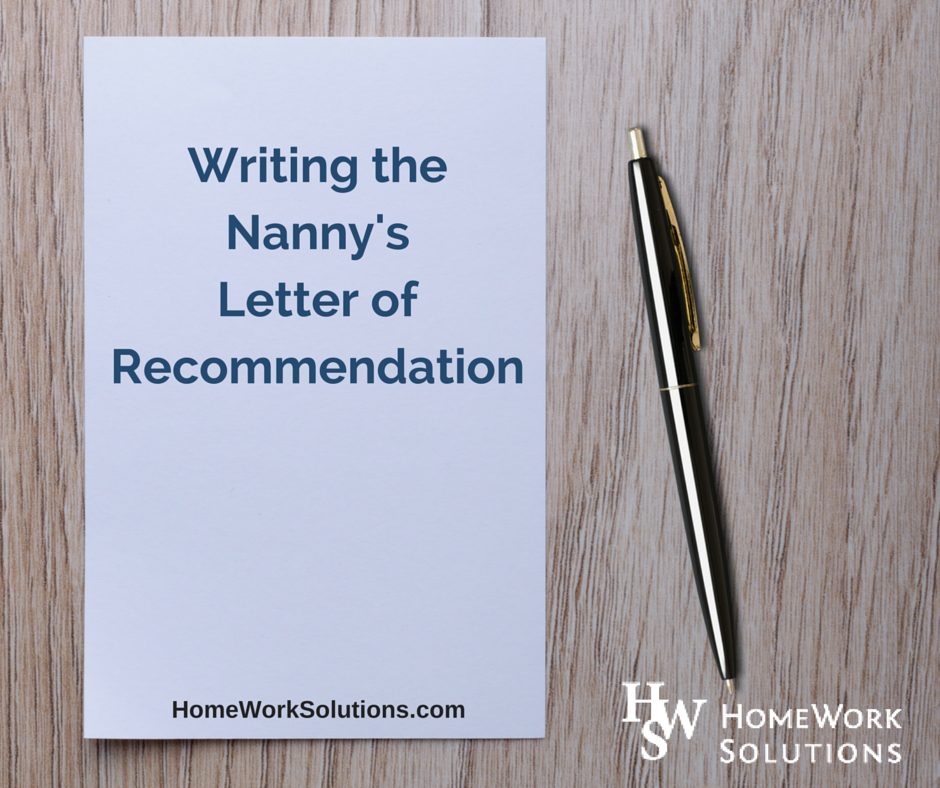 Writing The Household Employee S Letter Of Reference