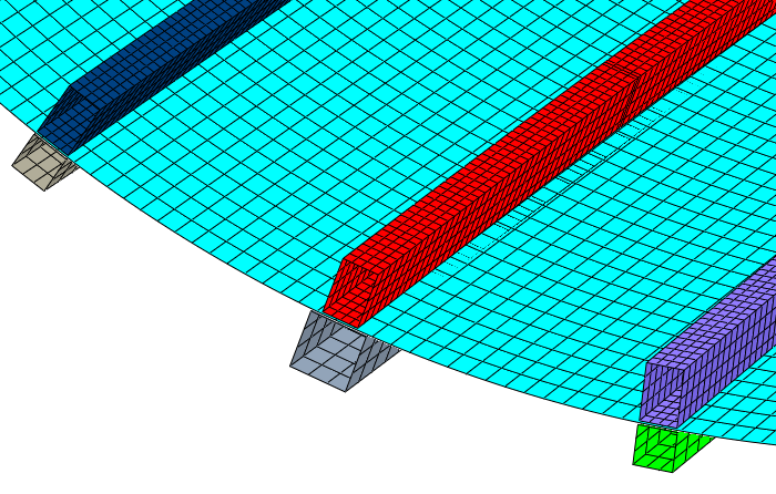 Shell and Beam Elements with Abaqus