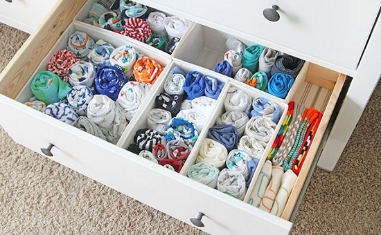 sock drawer for organization