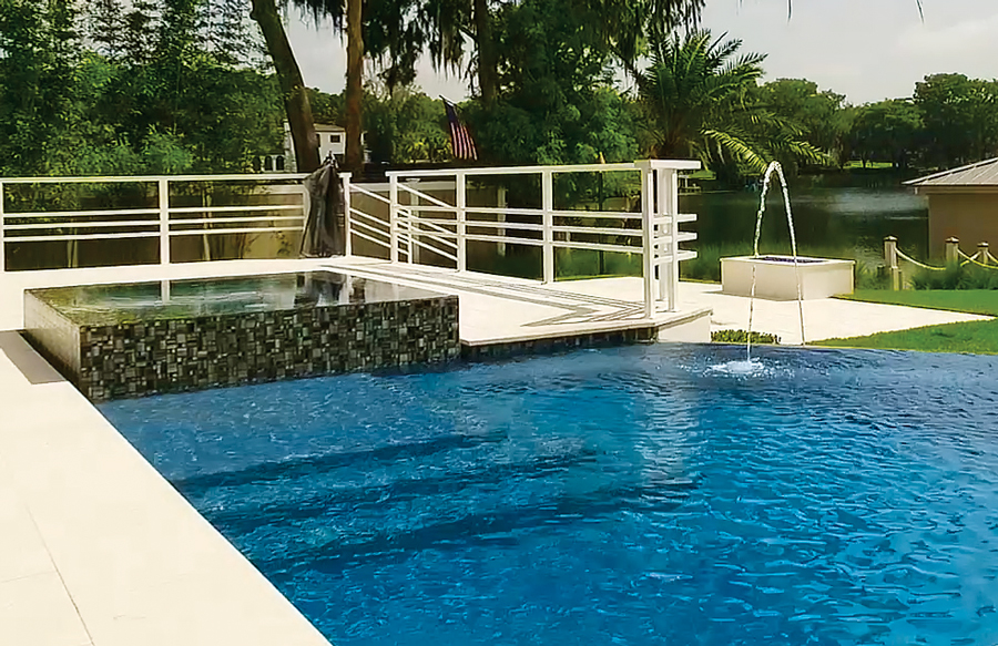 What Is A Rim Flow Spa On A Custom Swimming Pool With Design Photos