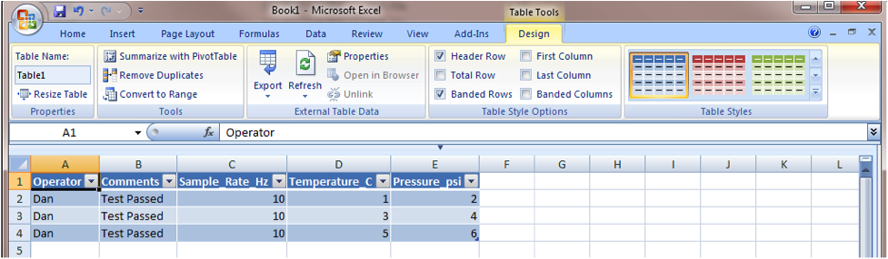 Painless LabVIEW Test Data Management with XML & Excel
