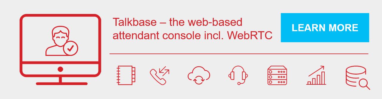 web-based attendant console incl WebRTC