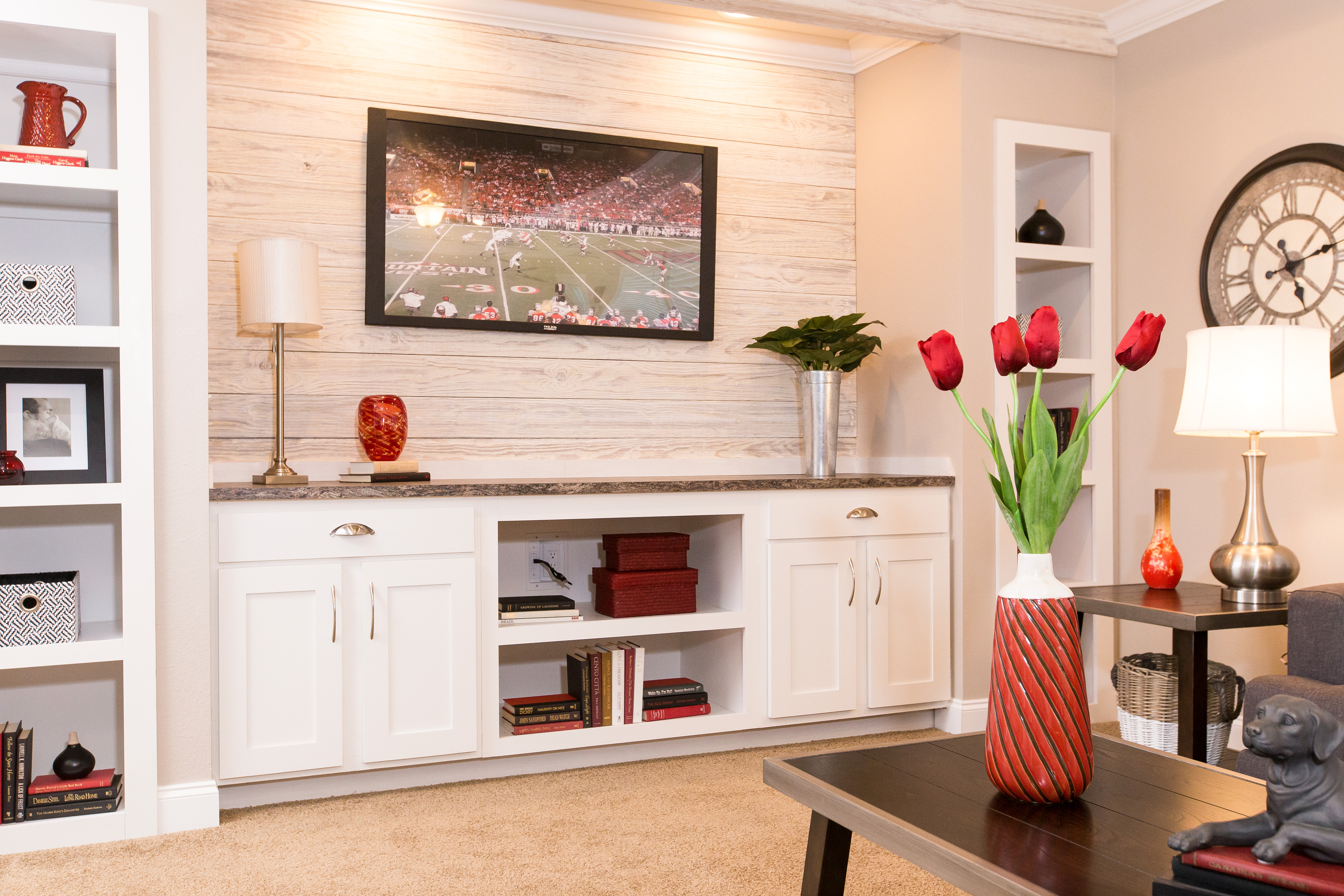 mobile home living room focal point guide